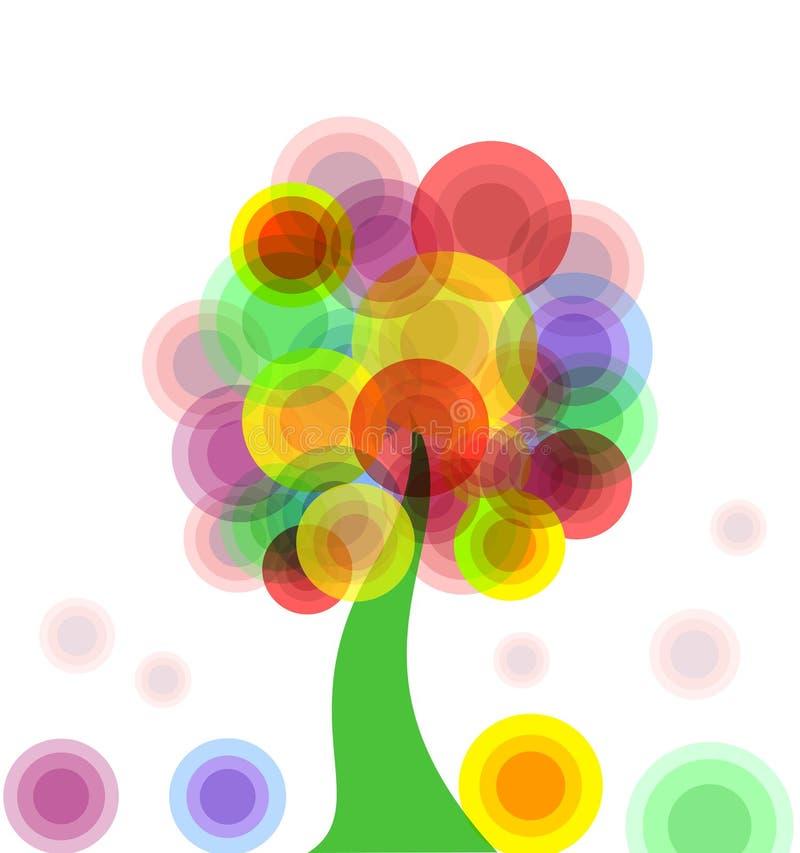 Abstrakter bunter Baum vektor abbildung