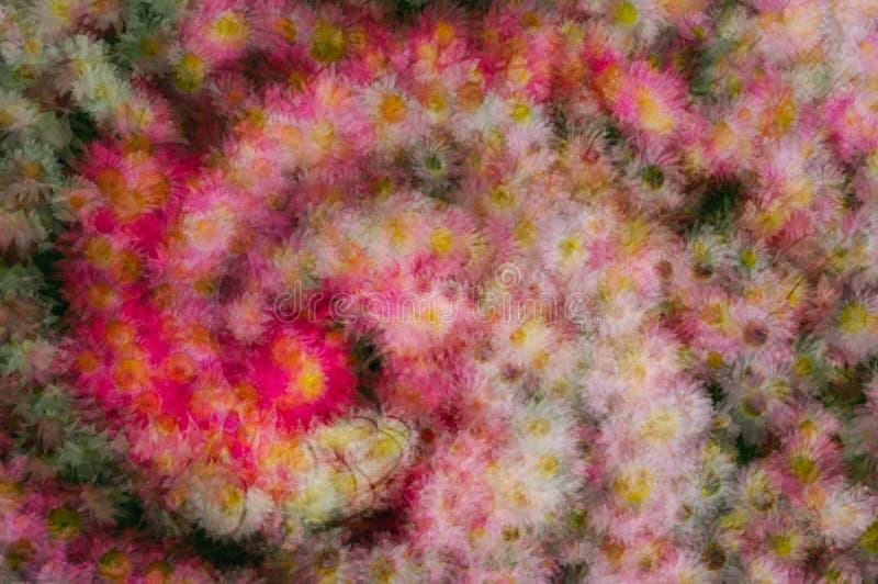 Abstrakter bunter Blumenhintergrund lizenzfreie stockfotos
