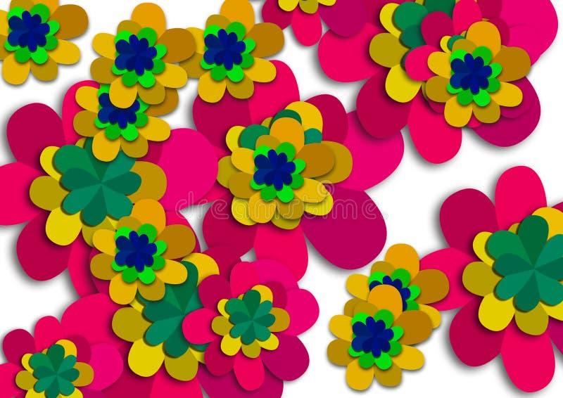 Abstrakter bunter Blumenhintergrundentwurf stock abbildung