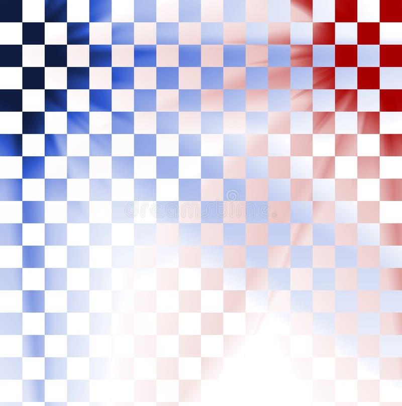 Abstrakter bunter Checkhintergrund stock abbildung