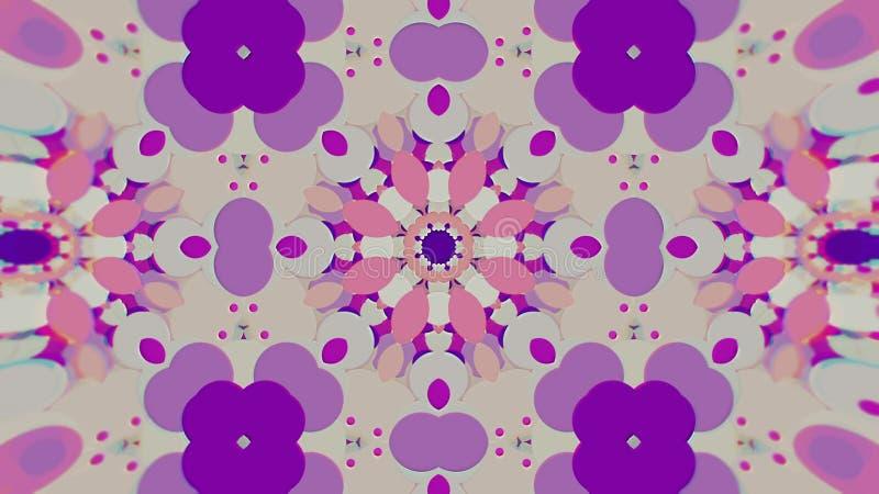 Abstrakter bunter gemalter kaleidoskopischer grafischer Hintergrund Futuristisches psychedelisches hypnotisches Hintergrund-Muste lizenzfreie abbildung