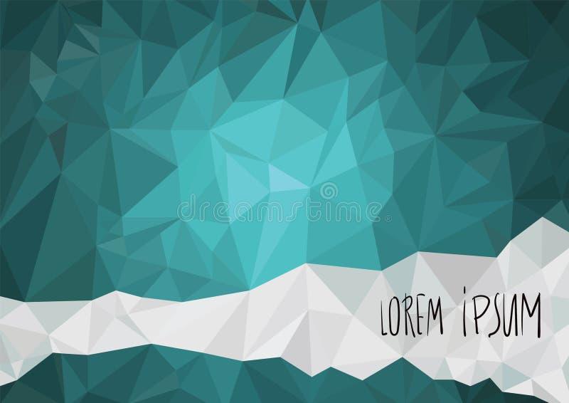 Abstrakter bunter geometrischer Hintergrund mit Dreiecken lizenzfreies stockbild