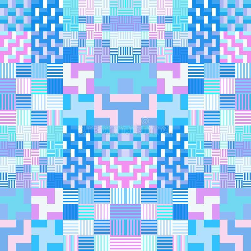 Abstrakter bunter geometrischer tileable Hintergrund lizenzfreie abbildung