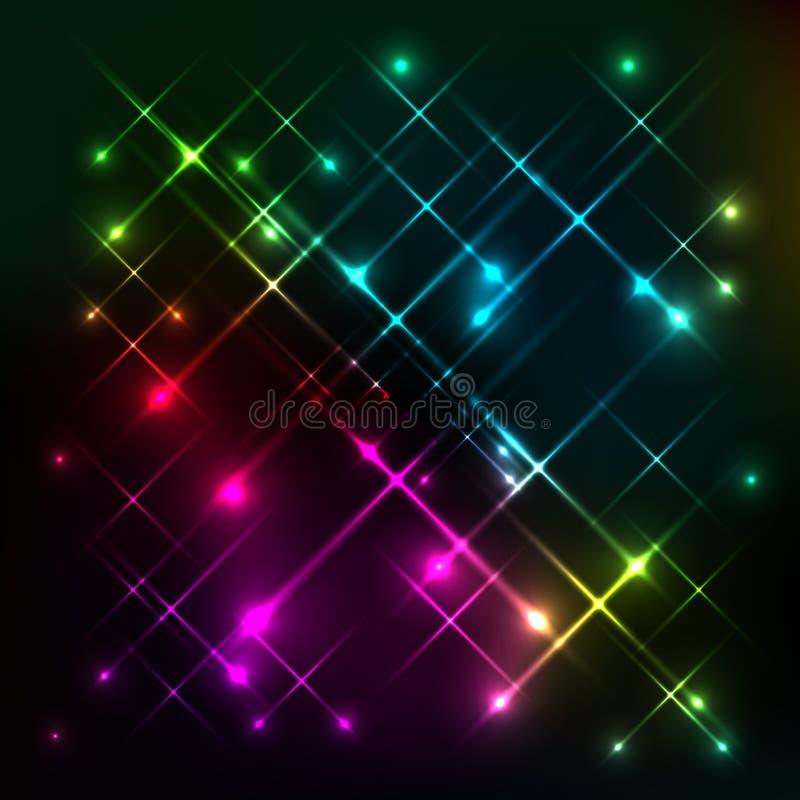 Abstrakter bunter Glühenhintergrundvektor vektor abbildung