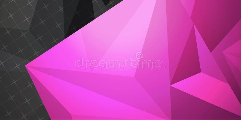 Abstrakter bunter Hintergrund, geometrische niedrige Polyart stockfoto