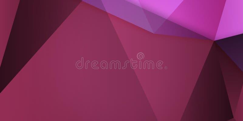 Abstrakter bunter Hintergrund, geometrische niedrige Polyart stock abbildung