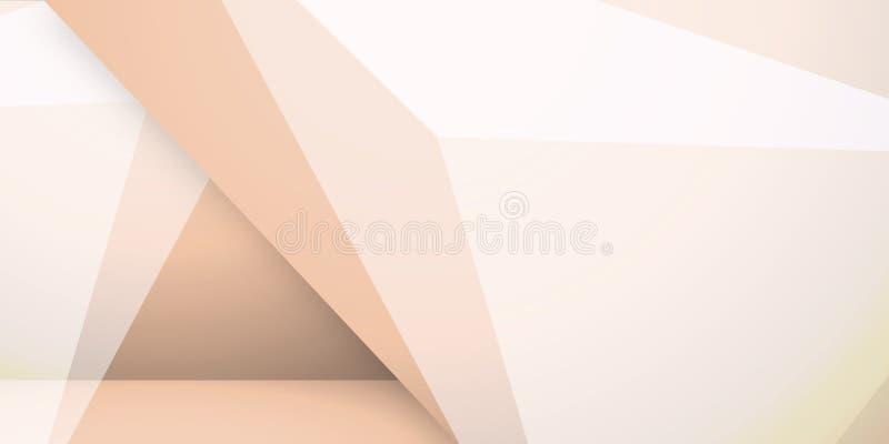 Abstrakter bunter Hintergrund, geometrische niedrige Polyart lizenzfreie abbildung