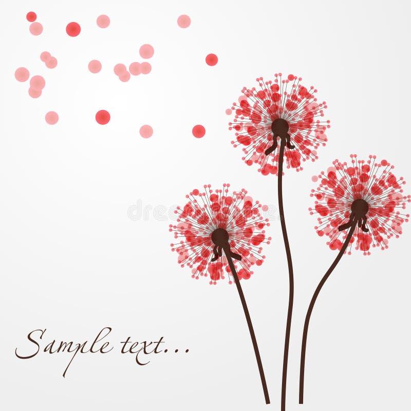 Abstrakter bunter Hintergrund mit Blumen. Vektor lizenzfreie abbildung