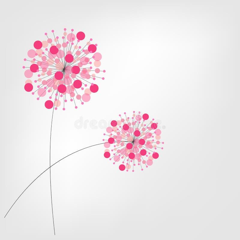 Abstrakter bunter Hintergrund mit Blumen Vektor vektor abbildung