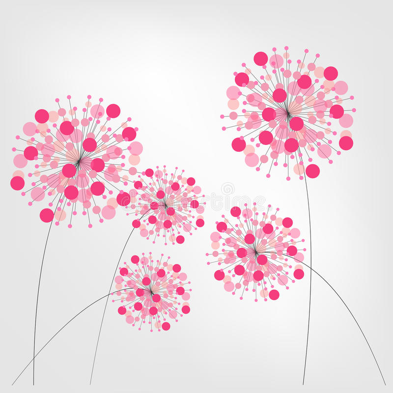 Abstrakter bunter Hintergrund mit Blumen Vektor stock abbildung