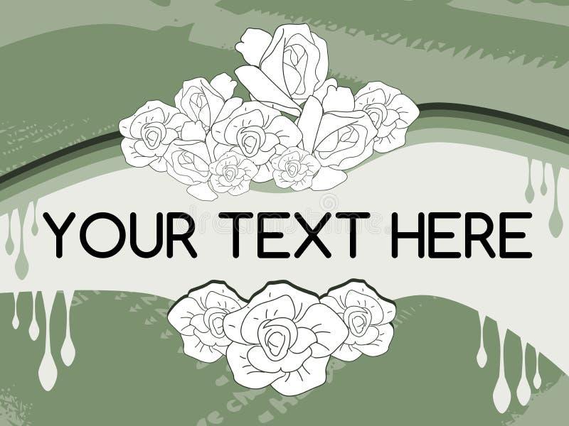 Abstrakter bunter Hintergrund mit Rosen lizenzfreie abbildung