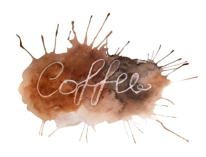 Abstrakter bunter Hintergrund mit Wort Kaffee stock abbildung