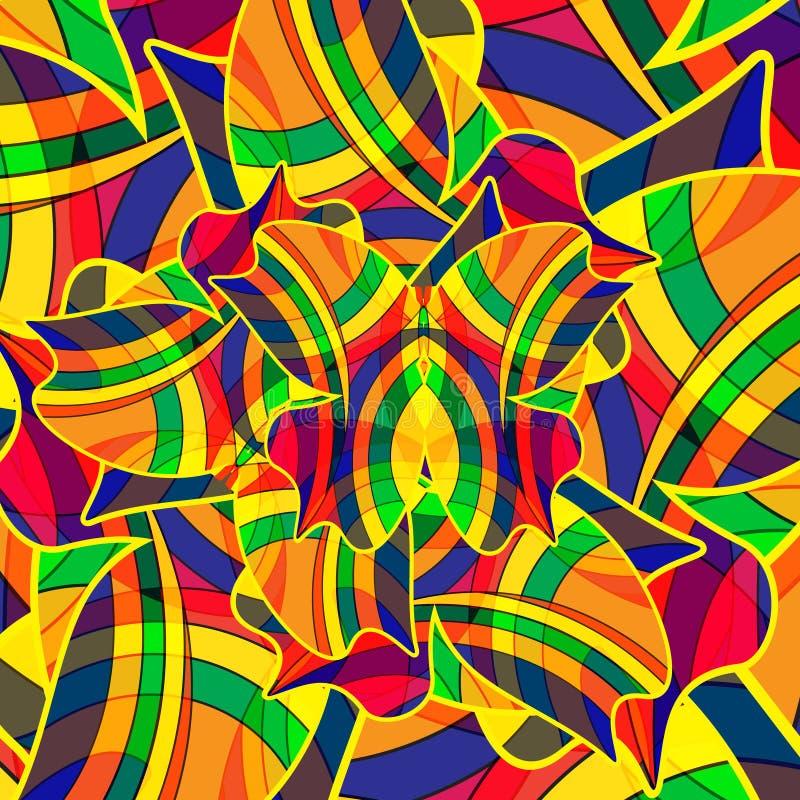 Abstrakter bunter Hintergrund von einem mehrfarbigen stock abbildung