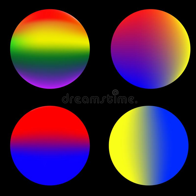 Abstrakter bunter Kreis, Regenbogenfarbe lizenzfreies stockbild