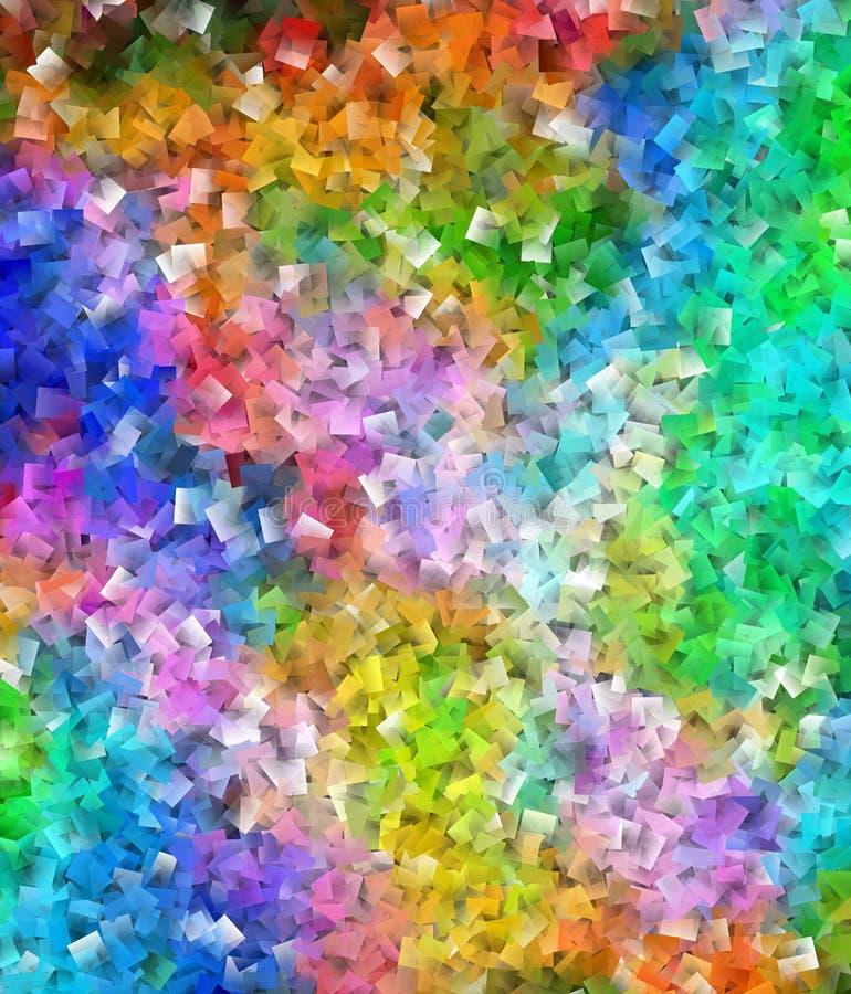 Abstrakter bunter kubistischer Muster-quadratischer überlagerter Hintergrund vektor abbildung