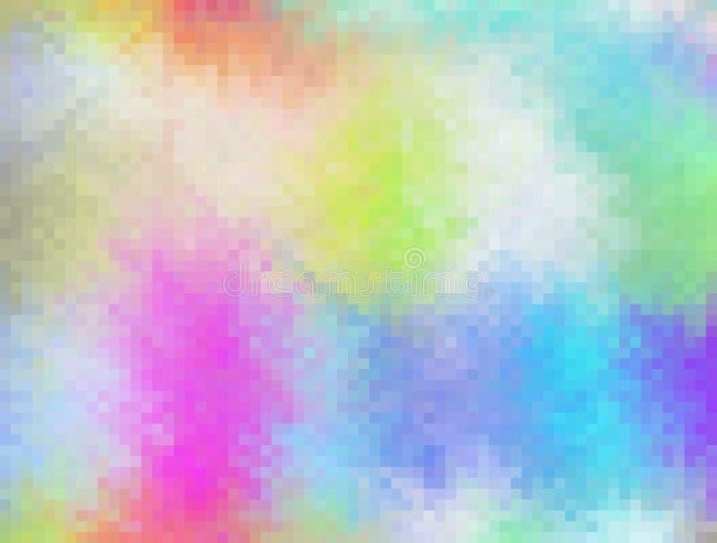 Abstrakter bunter Mosaik-pixelatedhintergrund lizenzfreie abbildung