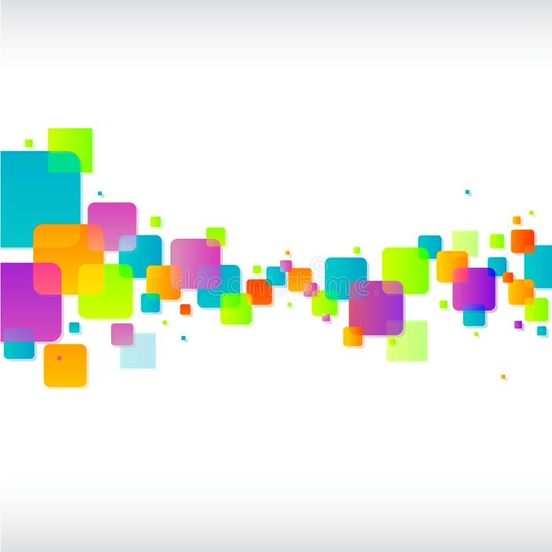 Abstrakter bunter quadratischer Hintergrund lizenzfreie abbildung