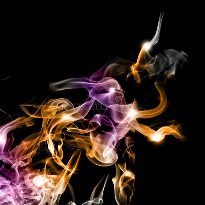 Abstrakter bunter Rauch stockbilder
