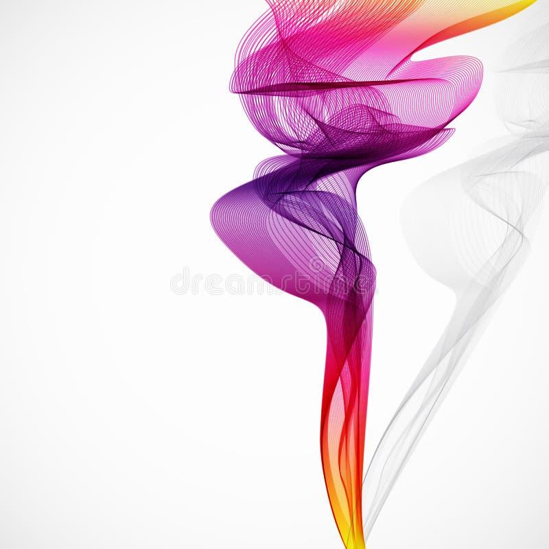 Abstrakter bunter Rauch vektor abbildung