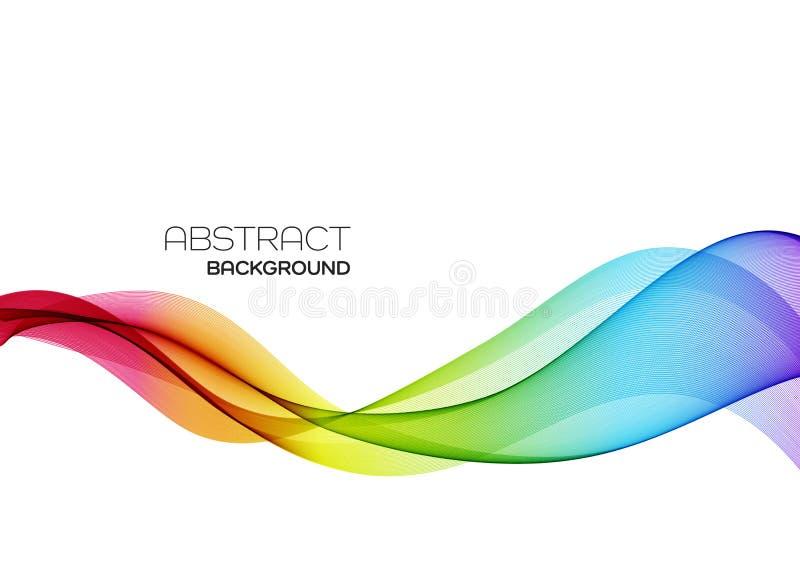 Abstrakter bunter Vektorhintergrund, Farbflusswelle für Designbroschüre, Website, Flieger stock abbildung