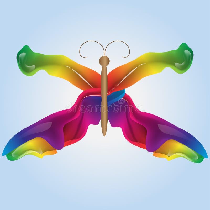 Abstrakter bunter Vektorhintergrund, flüssige Welle des Farbflusses für Designbroschüre, Website, Flieger lizenzfreie abbildung