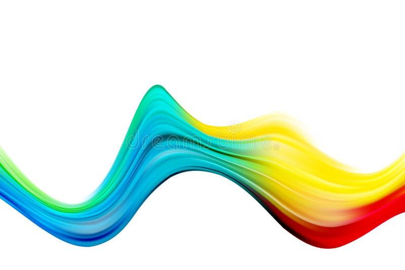 Abstrakter bunter Vektorhintergrund, fl?ssige Welle des Farbflusses f?r Designbrosch?re, Website, Flieger Stromfl?ssigkeit acryls lizenzfreie abbildung