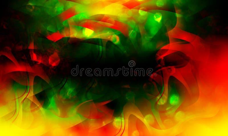 Abstrakter bunter Wellenhintergrund, Weihnachtszauberschein, Lichtpunkte, defekter Effekt des Vektors Eine Abbildung einer Batika lizenzfreie abbildung
