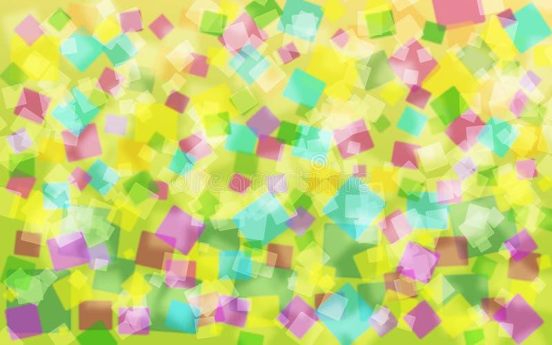 Abstrakter colorfull und sqare Hintergrund lizenzfreie stockbilder