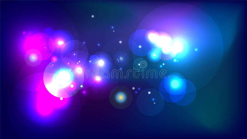 Abstrakter cosmo Galaxie-Universumhintergrund stock abbildung