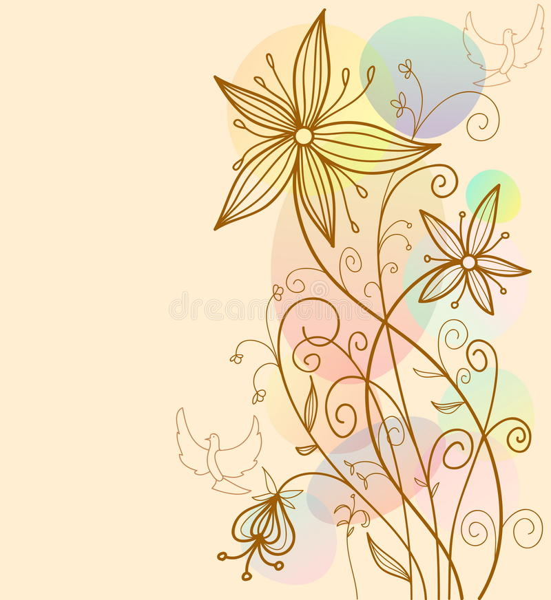 Abstrakter creeting Kartenblumenhintergrund lizenzfreie abbildung