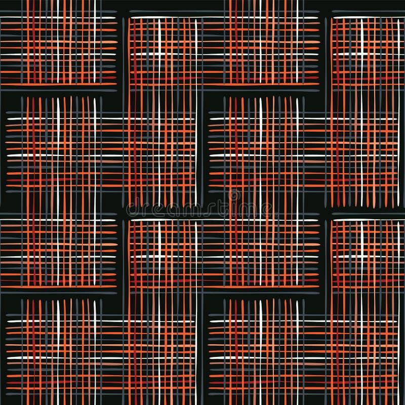 Abstrakter Criss Cross Weave Orange und Weiß vektor abbildung