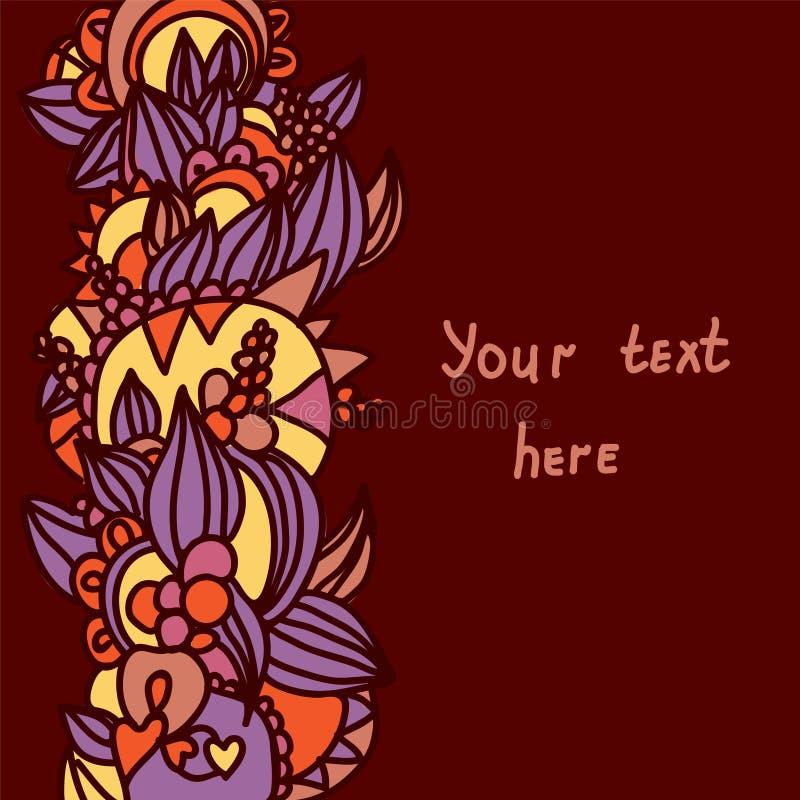 Download Abstrakter Dekorativer Blumenhintergrund Vektor Abbildung - Illustration von modern, auszug: 26374866