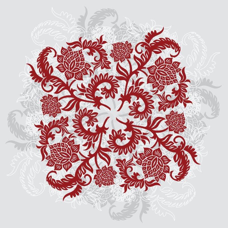 Abstrakter dekorativer dekorativer Hintergrund mit Blume, Vektor IL vektor abbildung