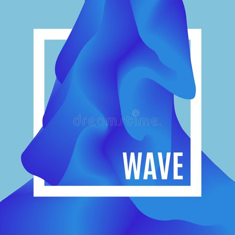 Abstrakter Design-Kreativitäts-Hintergrund von blauen Wellen Feld mit Raum für Text Machen Sie Welle glatt Meerwasserbeschaffenhe vektor abbildung