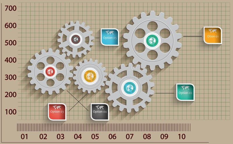 Abstrakter Designschablonenhintergrund. stock abbildung