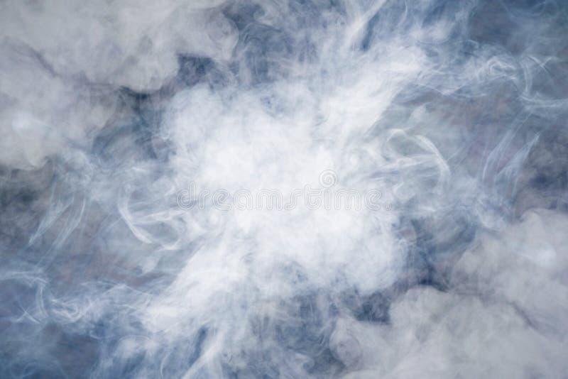 Abstrakter dicker Rauch, Nebel stockbild