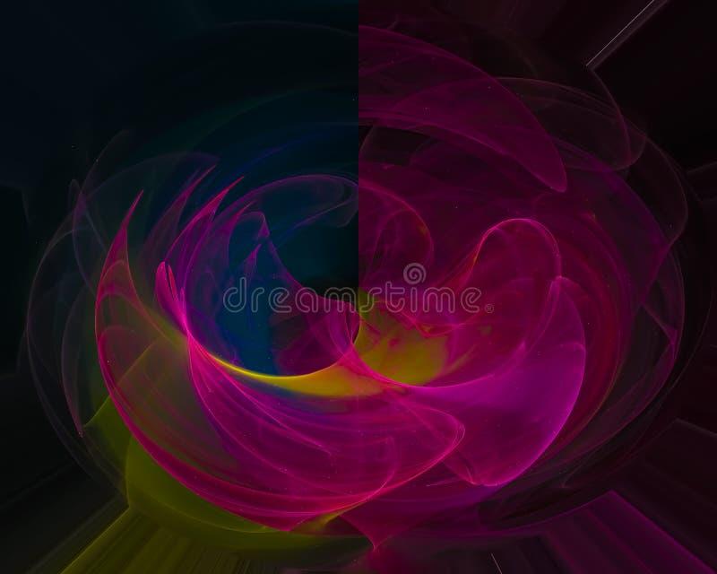 Abstrakter digitaler Fractal, Fantasieentwurf kosmisch, Hintergrund, Grafik lizenzfreie abbildung