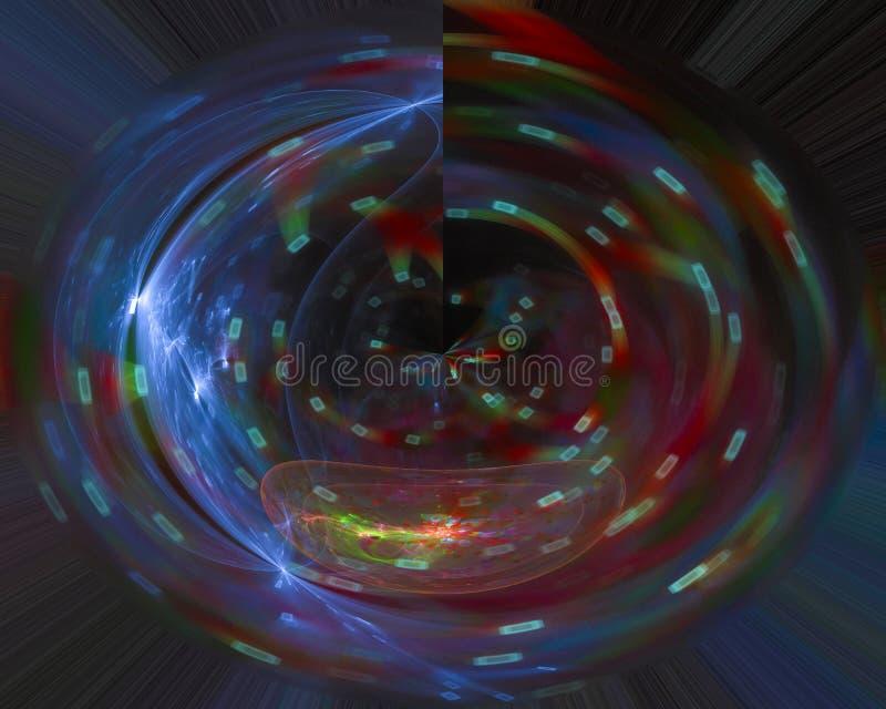 Abstrakter digitaler Fractal, Fantasieentwurfs-Fantasiehintergrund, Geheimnis lizenzfreie stockfotos