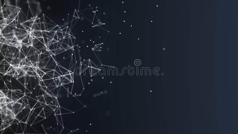 Abstrakter digitaler Hintergrund Network Connection Vektorabbildung f?r Auslegung Erfinderische Forschung der wissenschaftlichen  lizenzfreie abbildung