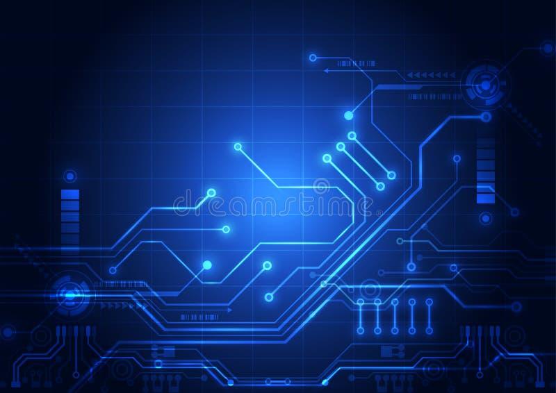 Abstrakter Digitalschaltungstechnologiehintergrund Illustration Vektor stock abbildung