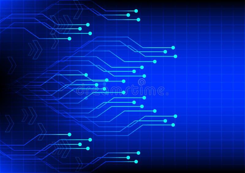 Abstrakter Digitaltechnik-Blauhintergrund der Elektronik stock abbildung