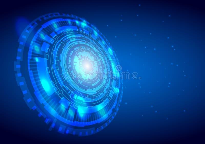 Abstrakter Digitaltechnikhintergrund des Kreises mit hinterem Raum, futuristisches Strukturelementkonzept-Hintergrunddesign Digit vektor abbildung