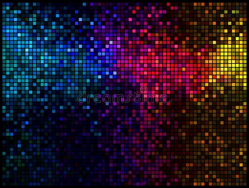 Abstrakter Discomehrfarbenhintergrund vektor abbildung