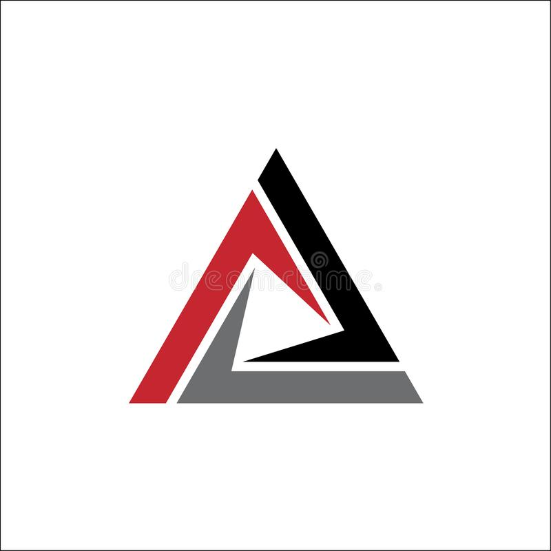 Abstrakter Dreieck-Zeichenillustrations-Logovektor lizenzfreie abbildung