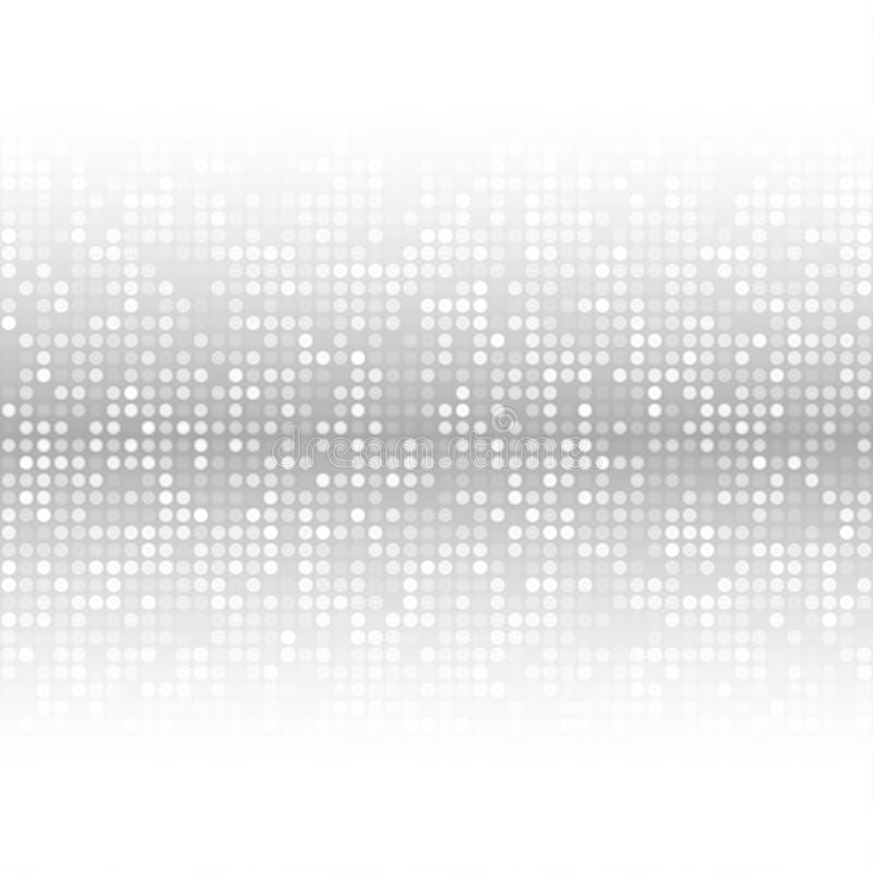 Abstrakter dunkler Gray Technology Cover Background lizenzfreie abbildung