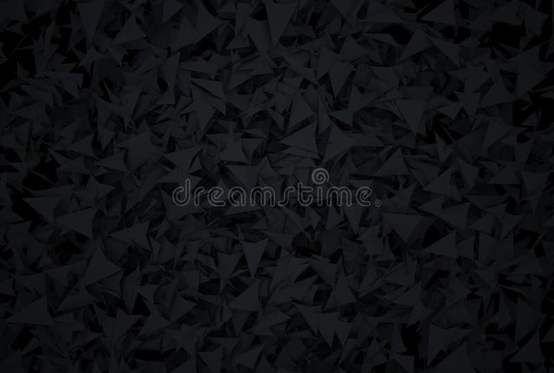 Abstrakter dunkler Hintergrund mit modernen Art polygones lizenzfreie stockbilder