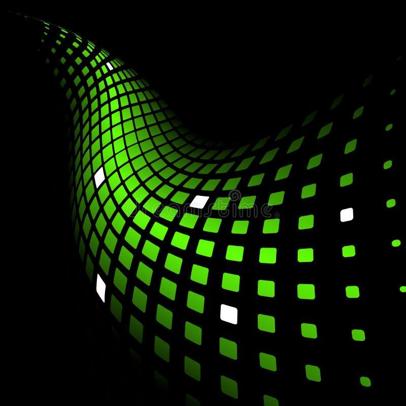 Abstrakter dynamischer grüner Hintergrund lizenzfreie abbildung