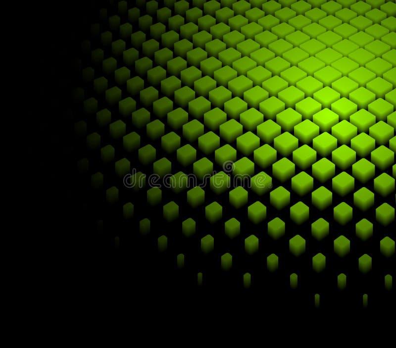 abstrakter dynamischer grüner Hintergrund 3d lizenzfreie abbildung