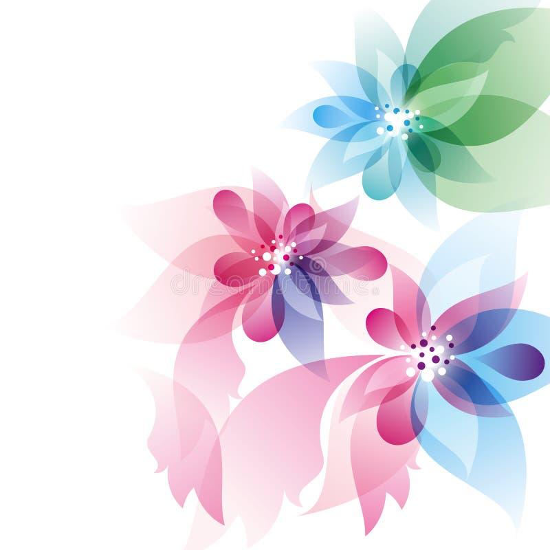 Abstrakter Entwurf mit Blumen lizenzfreie abbildung