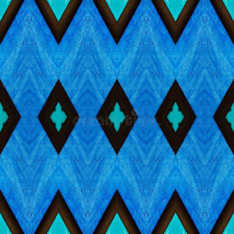 abstrakter Entwurf mit Buntglas in den blauen Farben, im Hintergrund und in der Beschaffenheit lizenzfreie abbildung